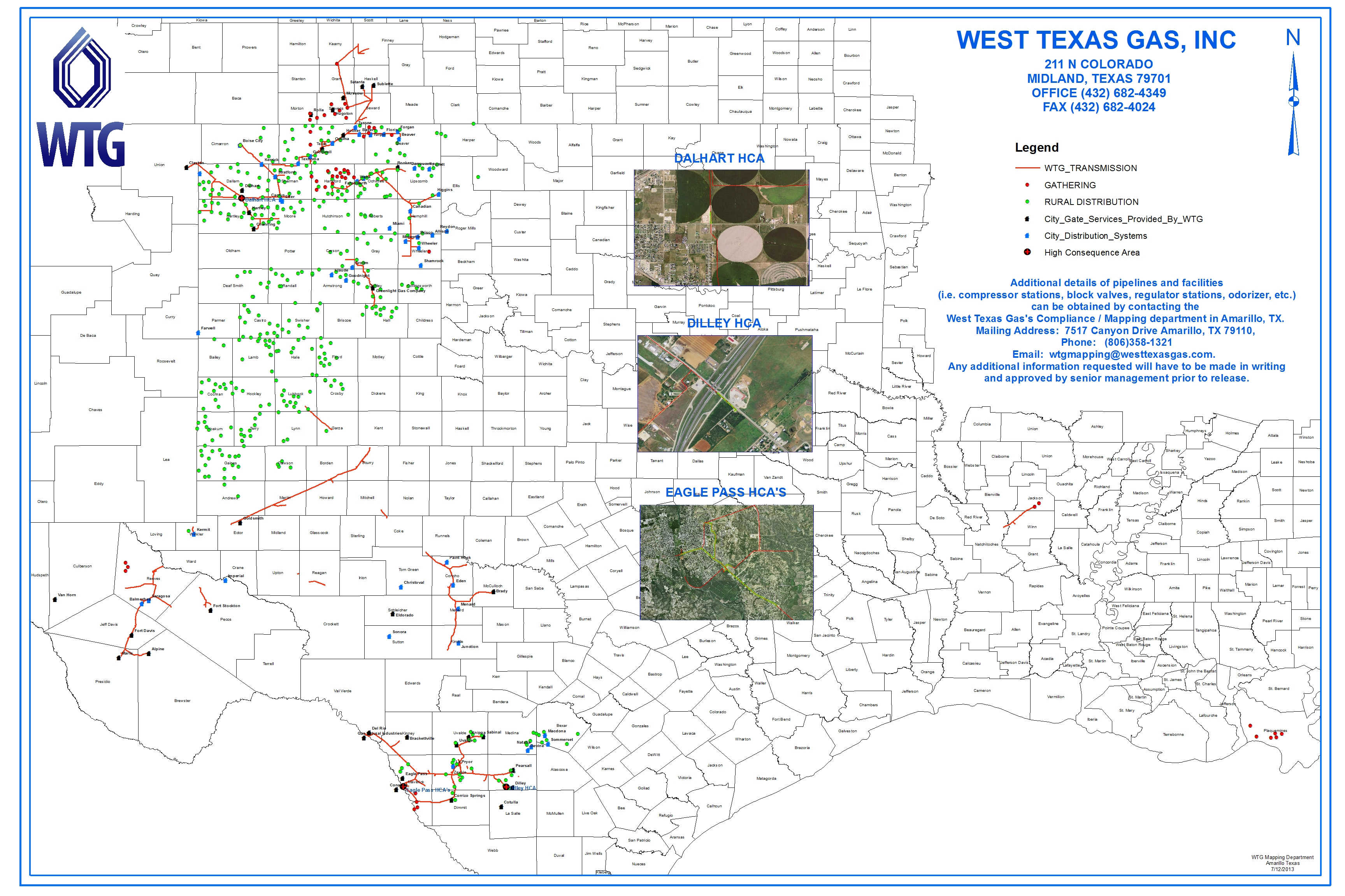 Maps | West Texas Gas